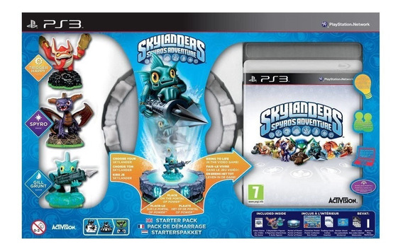 Box Lacrado Skylanders Spyros Adventure Pra Ps3 Playstation3