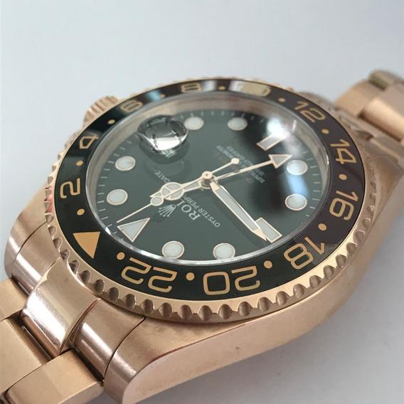 Reloj Rolex Gmt Master 2 Oro Rosa Automatico 142r