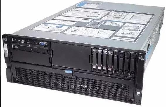 Servidor Hp Proliant Dl580 G5 64gb Ram 2x146gb Sas 3x Xeon