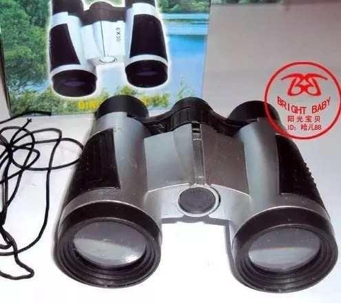 Kit 20 Binóculo Infantil + 20 Lupa 50mm + 20 Mini Lanterna
