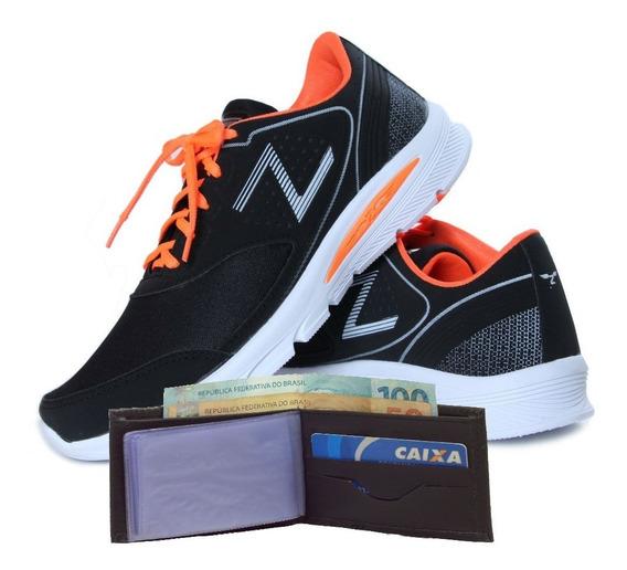 Kit Zeus Tenis Masculino Caminhada Academia + Carteira Slim