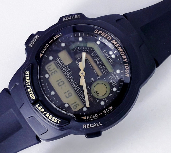 Relógio Casio Speed Memory 100 Aw-22 Japan Raro Década De 80