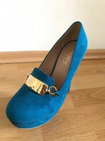 Tacones Andrea Color Azul Mujer
