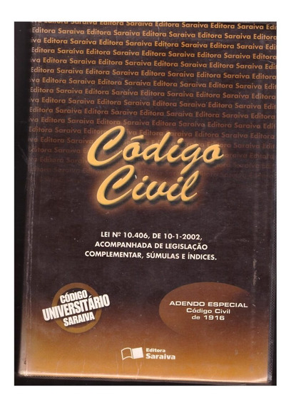 Livro Código Civil - Código Universitário Saraiva