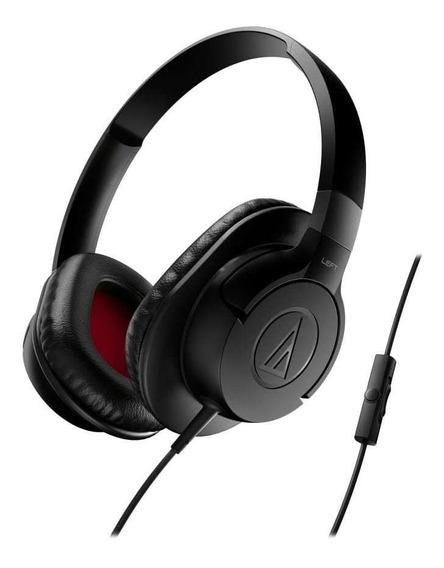 Fone De Ouvido C/ Mic Audio-technica Over-ear - Ath-ax1isbk