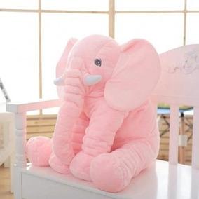 Almofada Elefante Bebê Travesseiro Pelúcia 60cm Antialérgico
