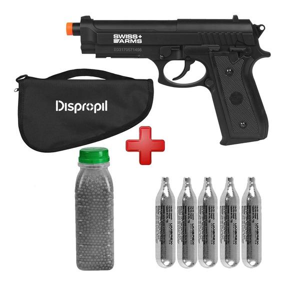 Pistola Pressão Co2 S.a. P92 4.5 + 4100 Esferas Aço + Capa
