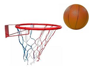 Aro Basket Basquet Con Red + Pelota Infantil Nº5 O F E R T A
