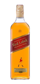 Whisky Escocês Johnnie Walker Red Label Garrafa 1 Litro