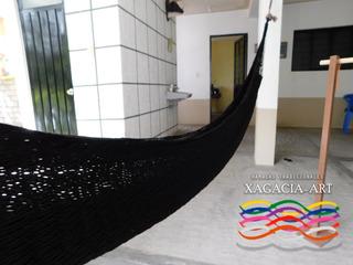 Hamaca Chica - Negro / Individual (tejido Doble)