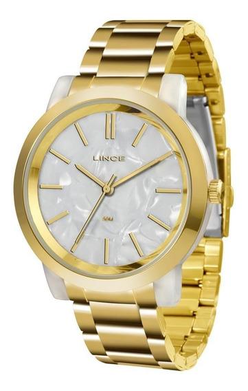 Relógio Lince Feminino Ref: Lrt613p B1kx Acrílico Dourado