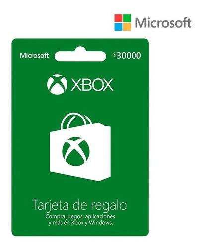 Xbox Tarjeta De Regalo 30k