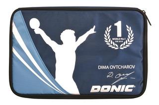 Capa Case Raqueteira Tênis De Mesa Donic Ovtcharov Azul