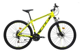 Bicicleta Mountain Bike Rodado 29 Slp 10 Shimano Cambios Frenos A Disco Llantas Doble Pared Suspension Varon Mujer Happy