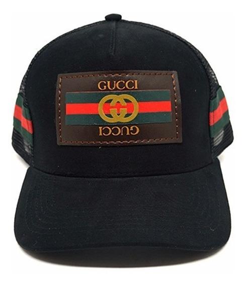 Boné Gucci Unissex Com Fecho De Couro E Ajustável
