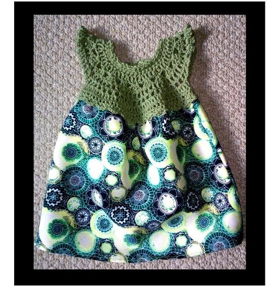 Vestido Bebe A Crochet + 6 Pañales Ecológicos Envío Gratis