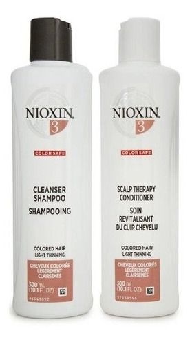 Imagem 1 de 1 de Nioxin System 3 Cleanser Shampoo 300ml & Condicionador 300ml