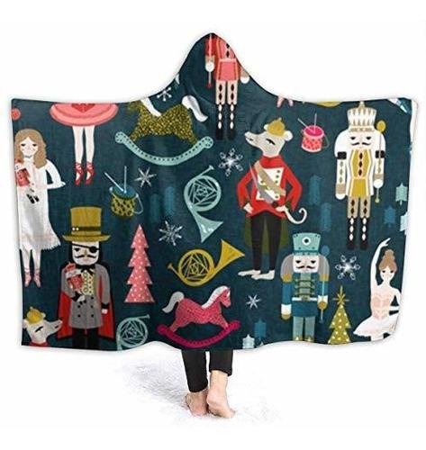 Nelife Manta Con Capucha De Vacaciones De Navidad Microfibra