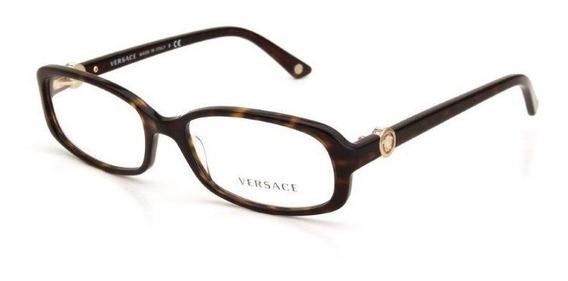 Óculos De Grau Versace Feminino Acetato Mesclado Preto