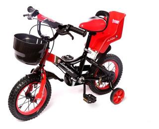 Bicicleta Infantil Lamborghini Rodado 12 Manija Acero