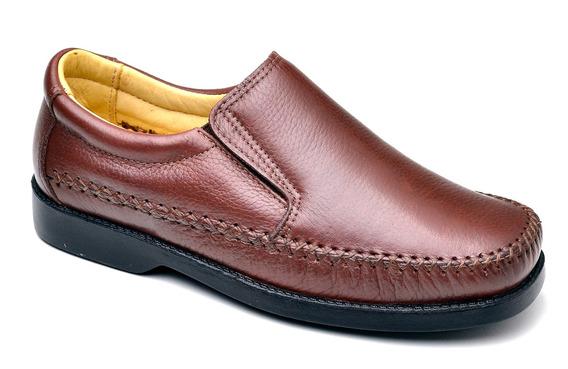 Sapato Social Confortável Em Couro Sapatilha 165 Para Festa