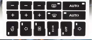Reparacion Stickers Calcomanias Control De Aire Audi A4 Exeo