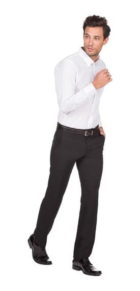 Pantalón De Vestir Liso Calce Entallado Hombre Macowens