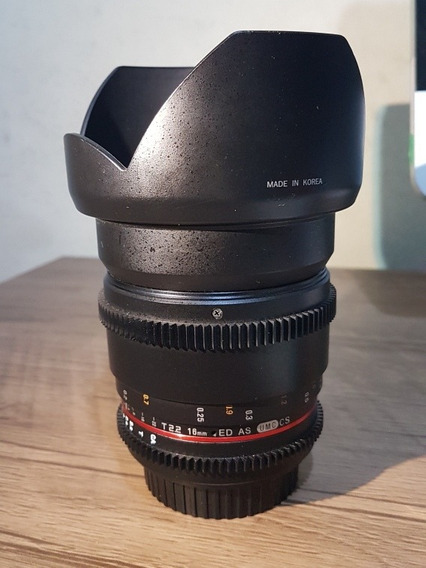 Lente De Cinema Rokinon 16mm Cine 2.2 Ef Canon Full Frame