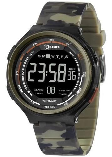 Relógio Masculino X Games Camuflado  Xmppd572 Pxef