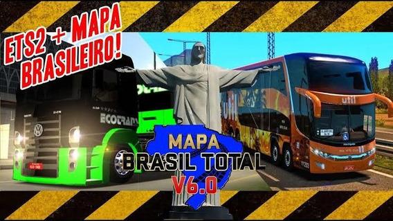 Euro Truck Simulator 2 Mapa Brasil V6 + Mod Bus Mapa Brasil