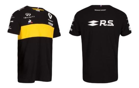Playera Tipo Polo Renault Rs Negro/amarillo