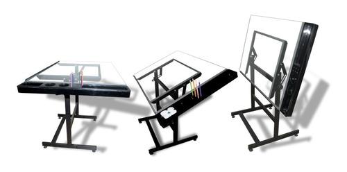 Imagen 1 de 4 de Mesa De Dibujo Con Ordenador De Acrlico Para Lapices Etc