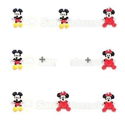 Kit C/ 2 Minnie Rosa 2 Minnie Vermelha E 2 Mickey - 27cm