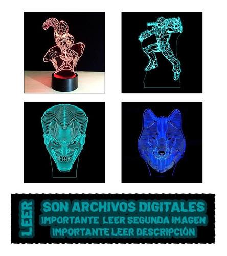Pack 200 Archivos Vectores Corte Láser Fabricar Lámparas Led