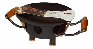 Brasero Chapa Diseño Mesa Parrilla Grill Asador 6pers ! Hrg