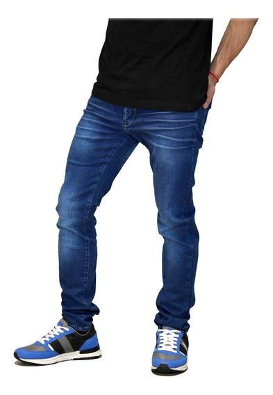 Jean Pantalon Elastizado Slim Fit Moda Hombre Mistral 15975