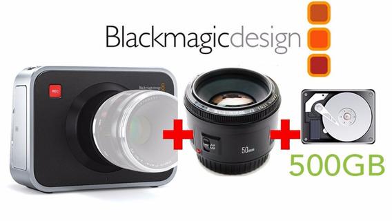 Black Magic Cinema + Hd 500gb + Lente 50mm + Frete!!