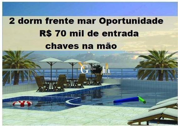 Apartamento Com 2 Dormitórios À Venda, Por R$ 70 Mil De Entrada - Maracanã - Praia Grande/sp - Ap2365