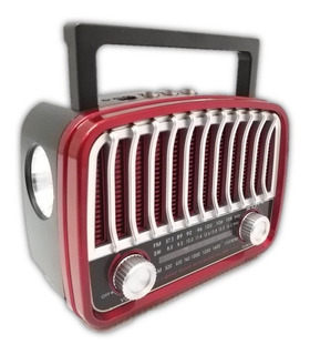 Bocina F&t Ft-902uat Lampara Radio Am Fm Sw Usb Tf Roja