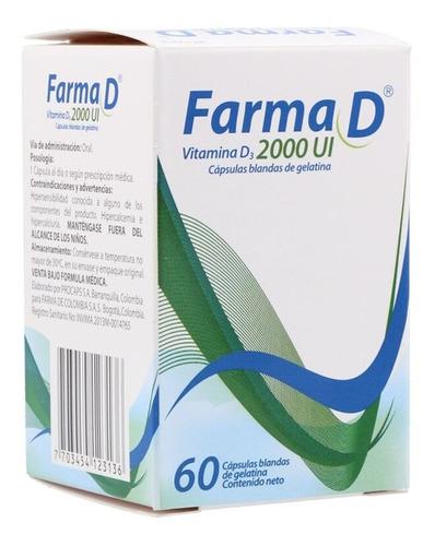 Farma D 2000 X 60 Capsulas - Unidad a $68000