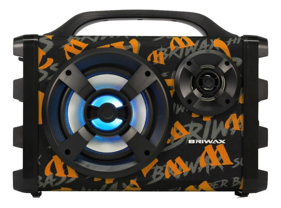 Caixa de som Briwax FBX-112 portátil sem fio Laranja 100V/240V