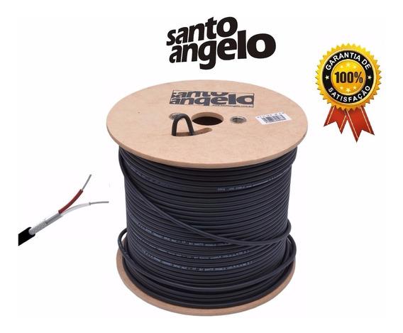 400m Cabo Balanceado Santo Angelo X30 P/ Microfone 0,30mm
