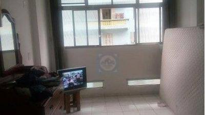 Kitnet Com 1 Dormitório À Venda, 25 M² Por R$ 170.000 - José Menino - Santos/sp - Kn0335
