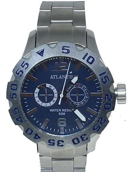 Relógio Dourado Ouro Atlantis Original Barato Masculino+cx