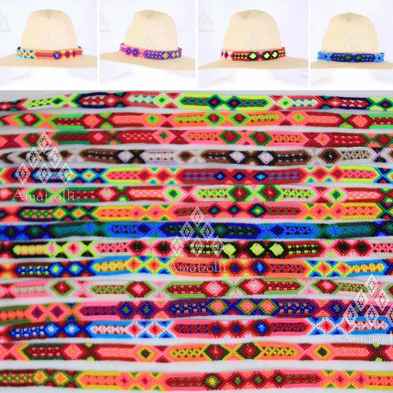 6 Tiras Artesanales Tejidas A Mano Para Sombrero 1.5cm Ancho