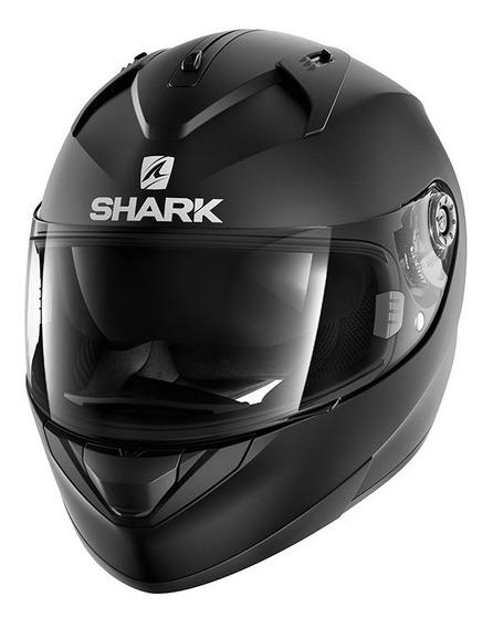 Capacete Shark Ridill Preto Fosco Com Viseira Solar