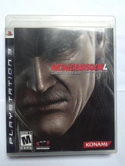 Jogo Metal Gear Solid 4: Guns Of Patriots Física Ps3 R$30