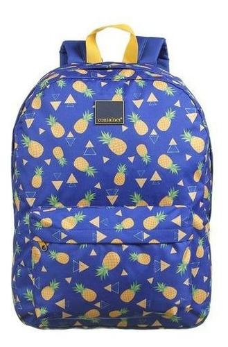 Mochila Escolar Dermiwil Abacaxi Azul-37726