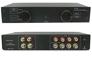 Tc-7240 4 Vias Rca / Phono Line Amp Router Audio Switcher Se