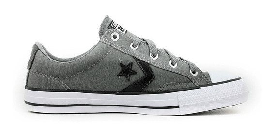 Zapatilla Converse Star Player Gris Con Negro
